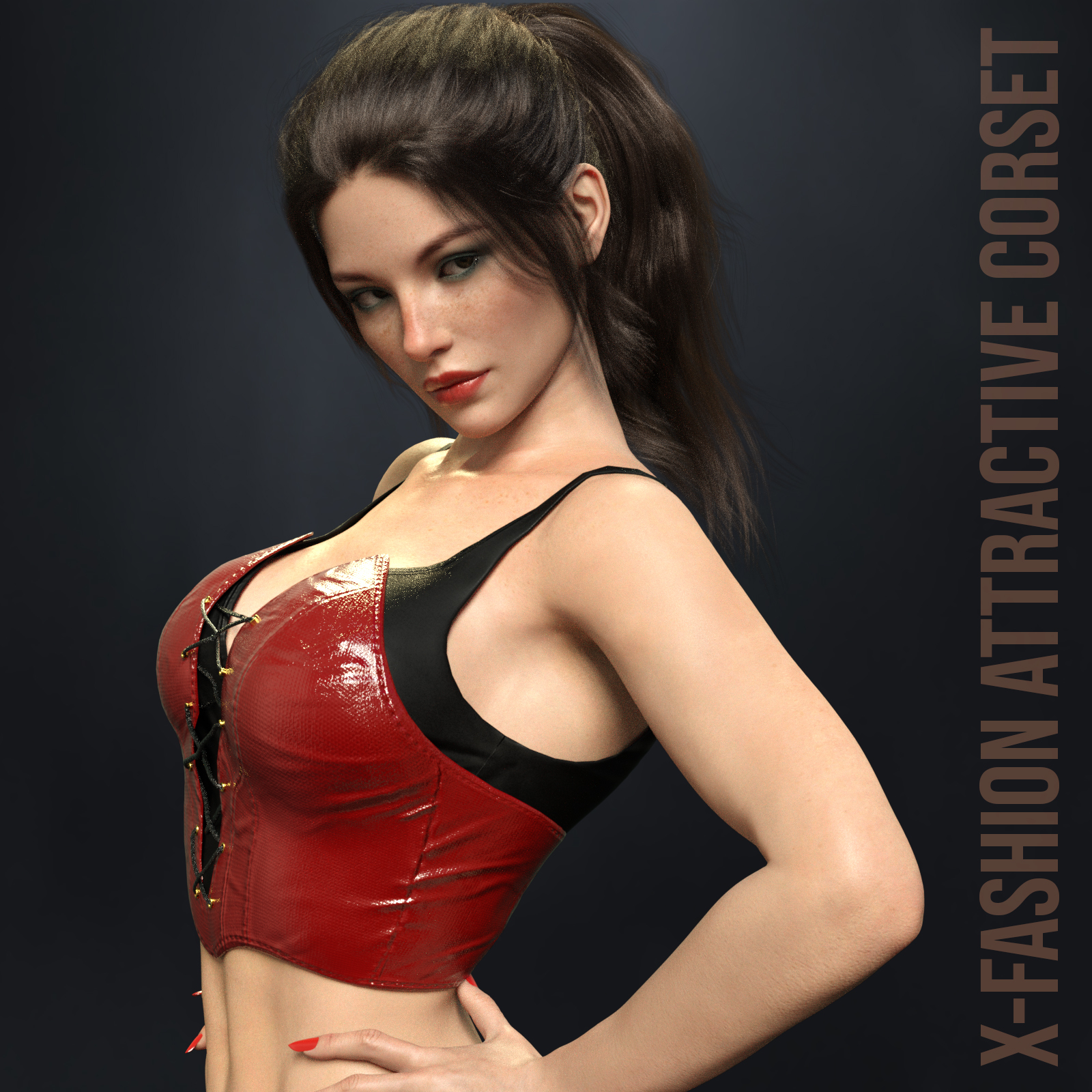 X-Fashion Attractive Corset for Genesis 8 Females