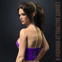 X-Fashion Attractive Corset for Genesis 8 Females image 2
