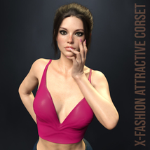 X-Fashion Attractive Corset for Genesis 8 Females image 3