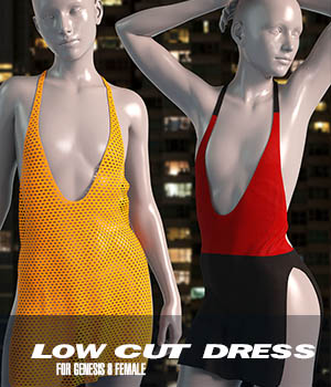 dForce Low Cut Dress for Genesis 8 Female 3D Figure Assets Imaginary3D