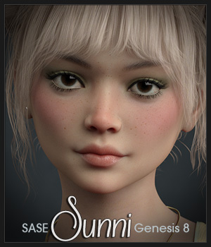 SASE Sunni for Genesis 8 3D Figure Assets Sabby