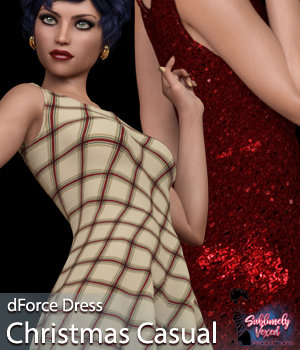 SublimelyVexed Christmas Casual dForce G8 3D Figure Assets 3DSublimeProductions