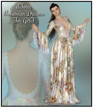 dforce - Bohemian Dreams for G8F 3D Figure Assets Lully