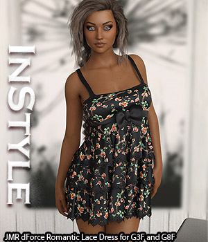 InStyle - JMR dForce Romantic Lace Dress for G3F and G8F 3D Figure Assets -Valkyrie-