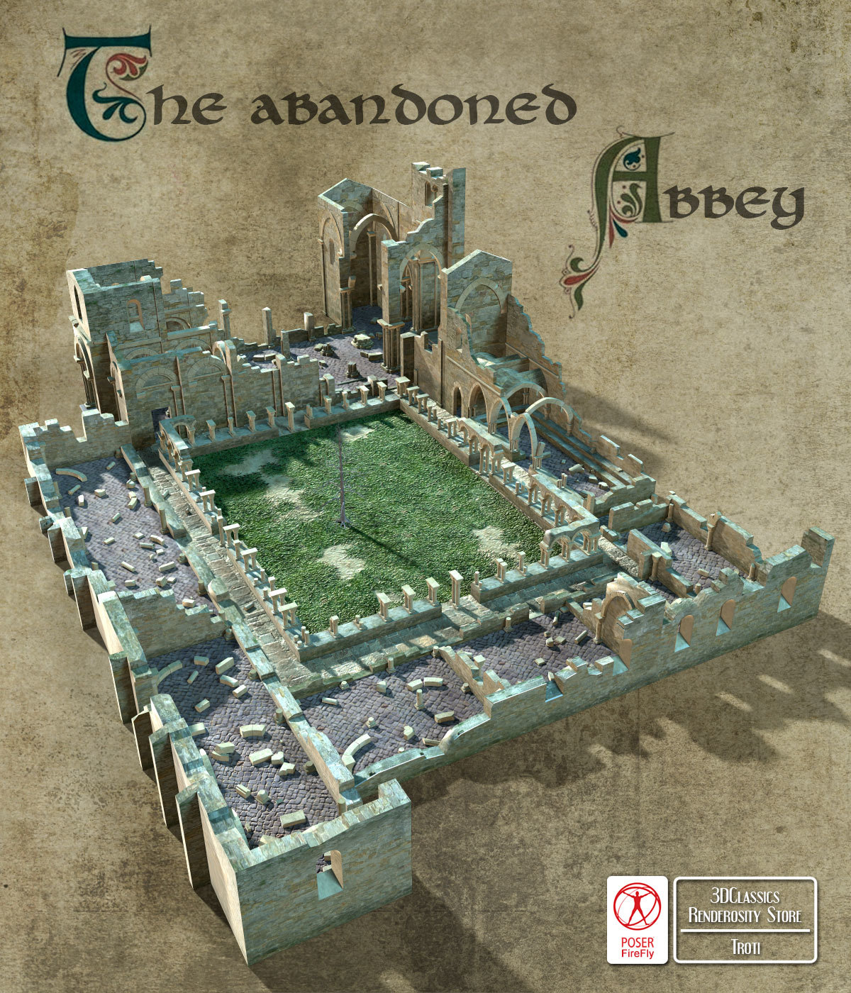 ABANDONED ABBEY by 3DClassics