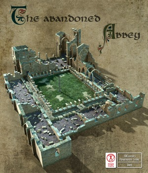 ABANDONED ABBEY 3D Models 3DClassics