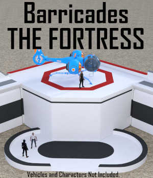 Barricades - The FORTRESS for Daz Studio 3D Models Winterbrose