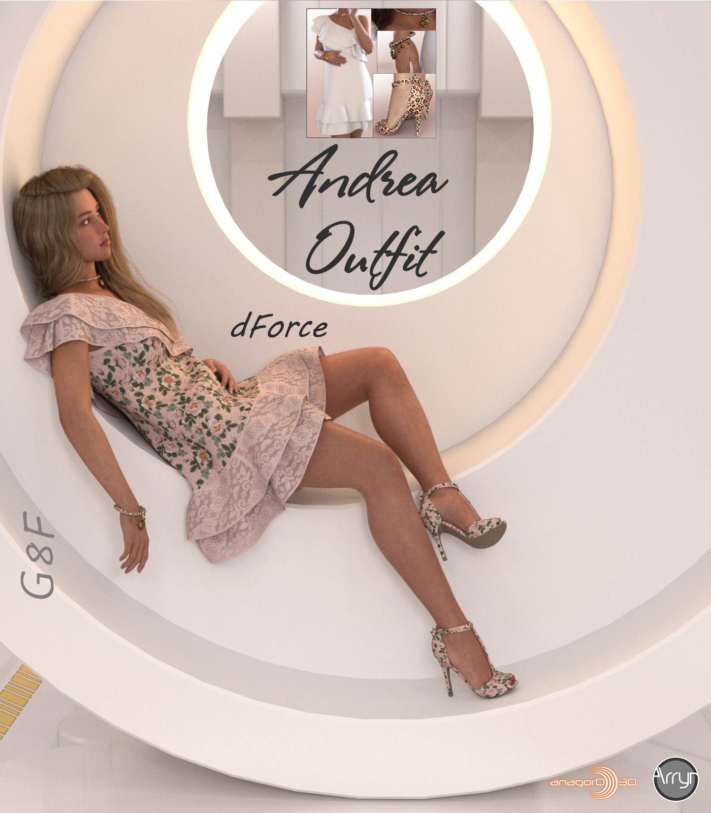 dForce Andrea Outfit for G8F by Arryn