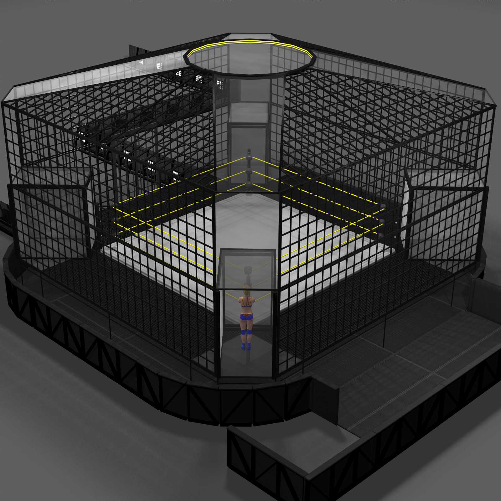 Cages for Dex's Wrestling Set (Poser 7+) by DexPac