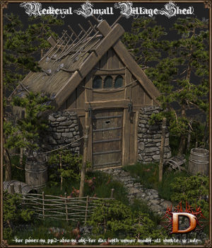 Medieval Small Village Shed 3D Models Dante78