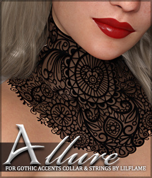 Allure for dForce Gothic Accents 3D Figure Assets Sveva