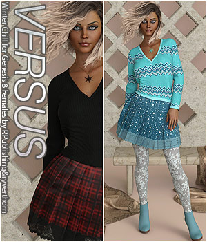 VERSUS - Winter Chill for Genesis 8 Females 3D Figure Assets Anagord