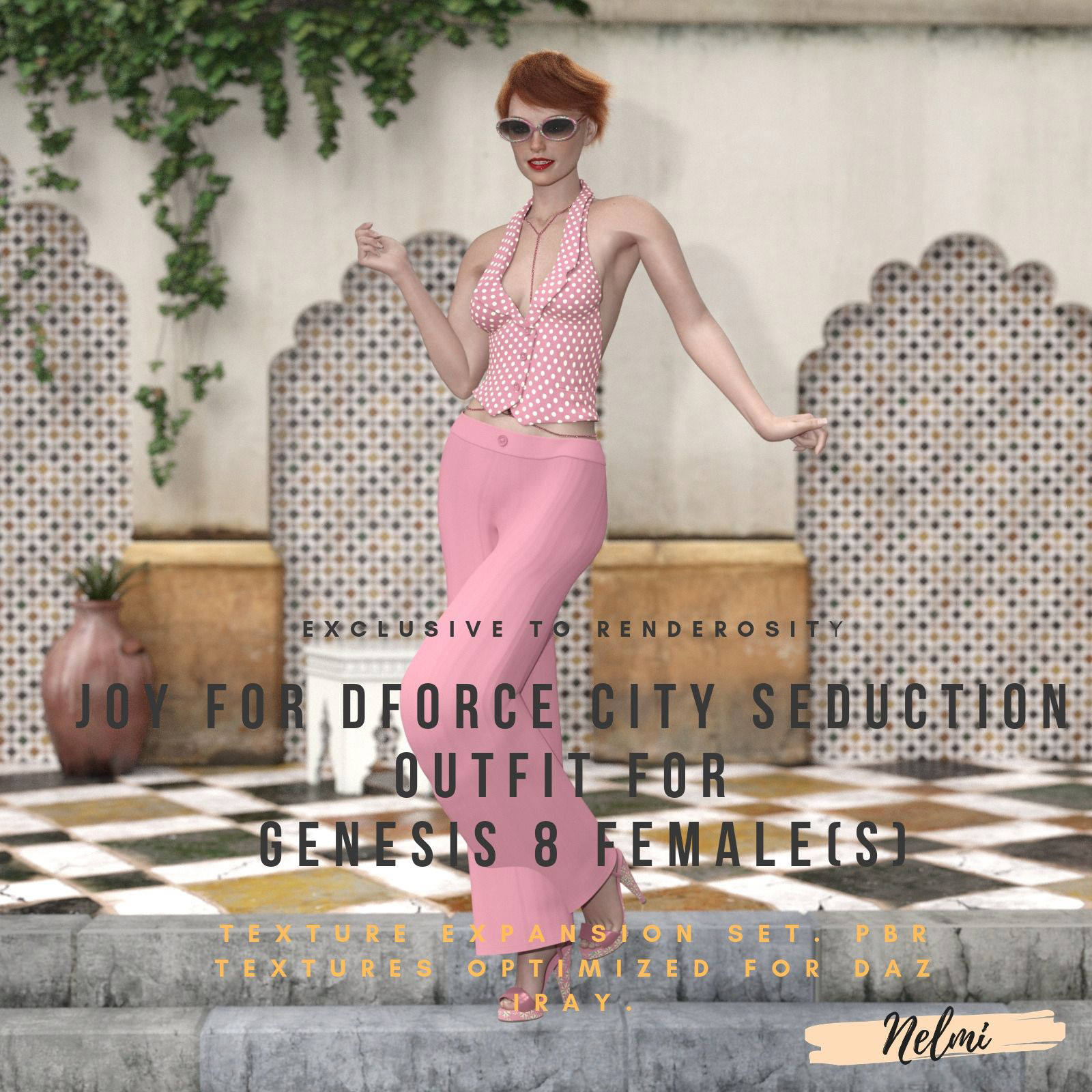 Joy for dforce City Seduction Outfit for Genesis 8 Female(s)