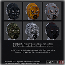 Robotic Face for G8F PBR Textures image 1