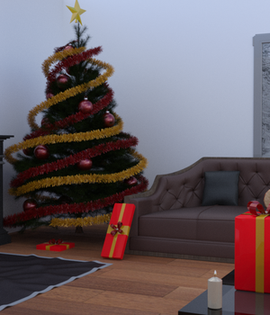 Christmas Room 3D Models djelloule