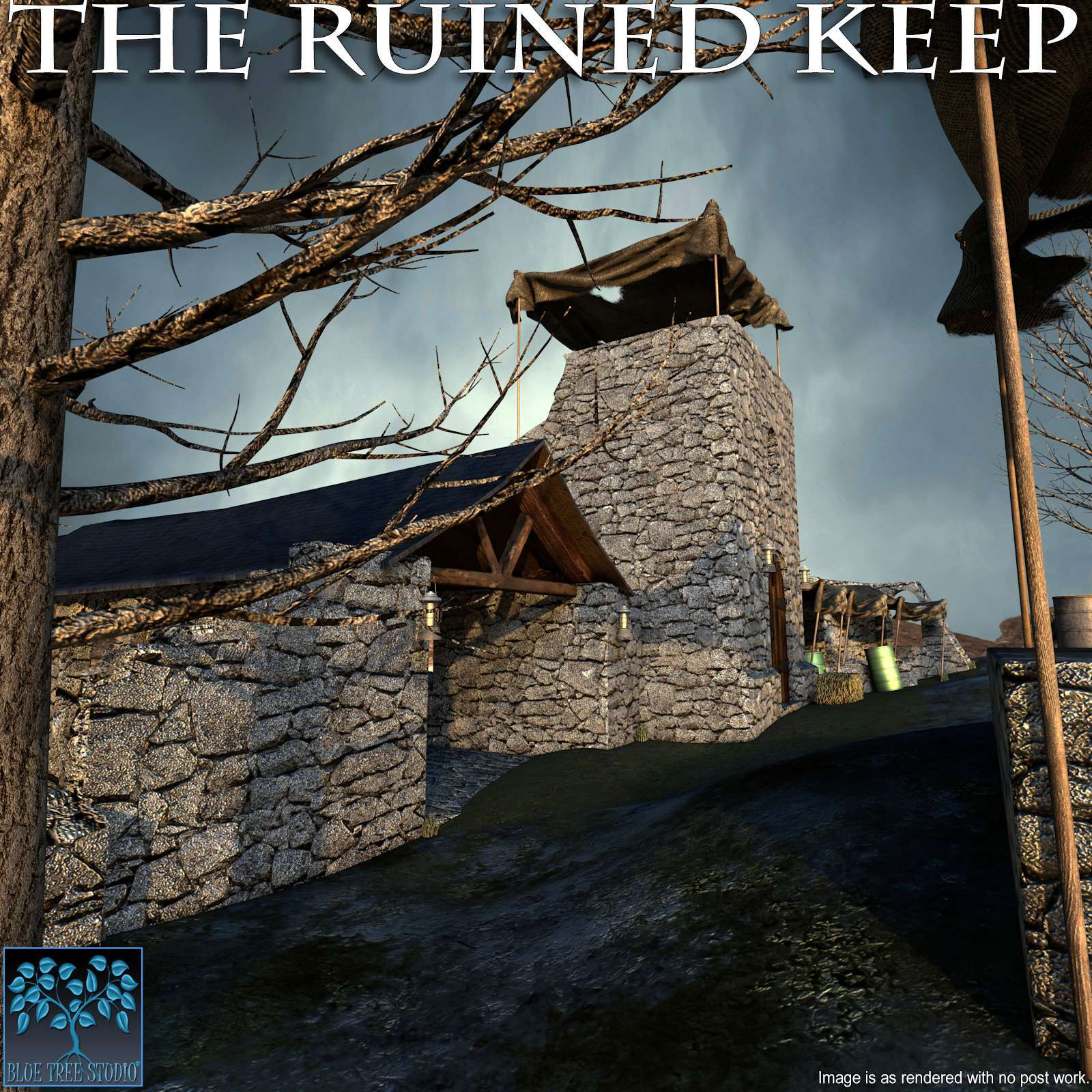 The Ruined Keep for Poser by BlueTreeStudio