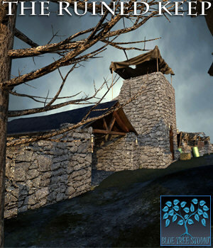 The Ruined Keep for Poser 3D Models BlueTreeStudio