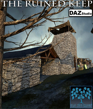The Ruined Keep for Daz Studio 3D Models BlueTreeStudio