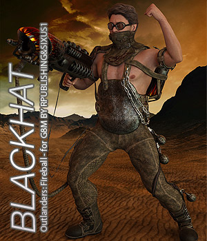 BLACKHAT - Outlanders: Fireball - for DS and Genesis 8 Male 3D Figure Assets Anagord