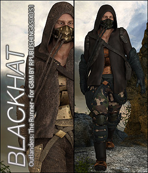 BLACKHAT - Outlanders: The Runner - For DS & Genesis8 Male 3D Figure Assets Anagord
