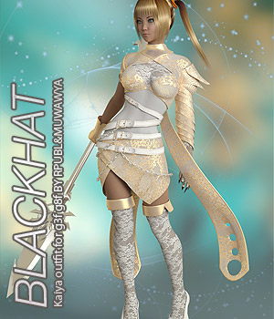 BLACKHAT - Kaiya outfit for g3f g8f 3D Figure Assets Anagord