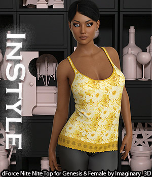 InStyle - dForce Nite Nite Top for Genesis 8 Female 3D Figure Assets -Valkyrie-