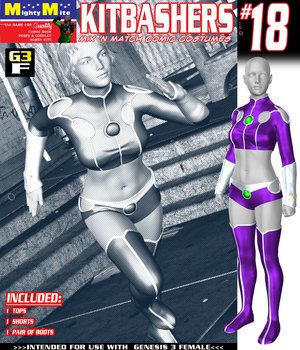 Kitbashers 018 MMG3F 3D Figure Assets MightyMite
