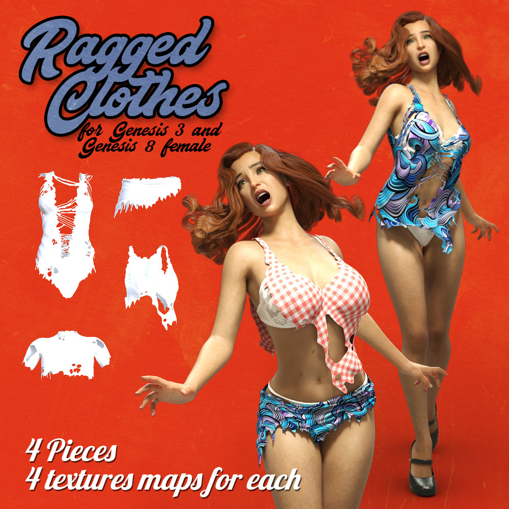 Ragged Clothes for G3F G8F
