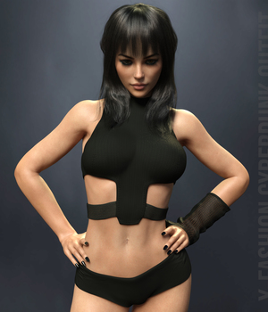 X-Fashion CyberPunk Outfit for Genesis 8 Females 3D Figure Assets xtrart-3d