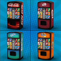 Exnem Vending Machines Soda Cans for Daz Studio and Iray image 1