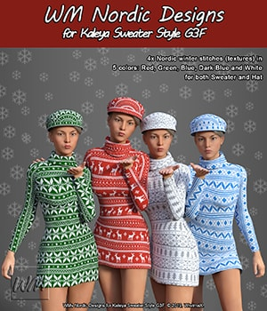 WMs Nordic Designs for Kaleya Sweater Style G3F 3D Figure Assets WiwimaX