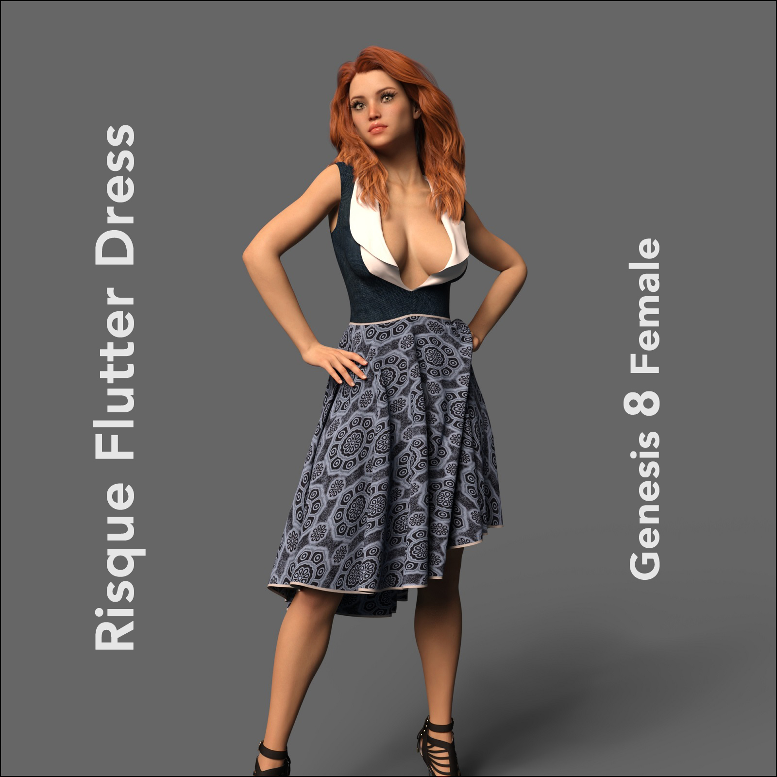 The Risque Flutter Dress for Genesis 8 Female