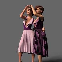 The Risque Flutter Dress for Genesis 8 Female image 3