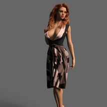 The Risque Flutter Dress for Genesis 8 Female image 4
