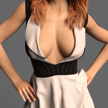 The Risque Flutter Dress for Genesis 8 Female image 6