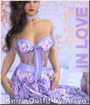 In Love- Keira Outfit 3D Figure Assets LUNA3D