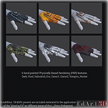 F.L.E. for G3F Addon 1 and 2 PBR Textures image 3