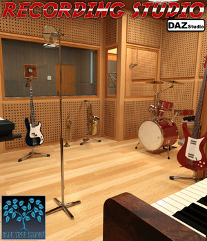 Recording Studio for Daz Studio 3D Models BlueTreeStudio