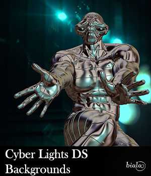 Cyber Lights DS Backgrounds 2D Graphics 3D Figure Assets biala