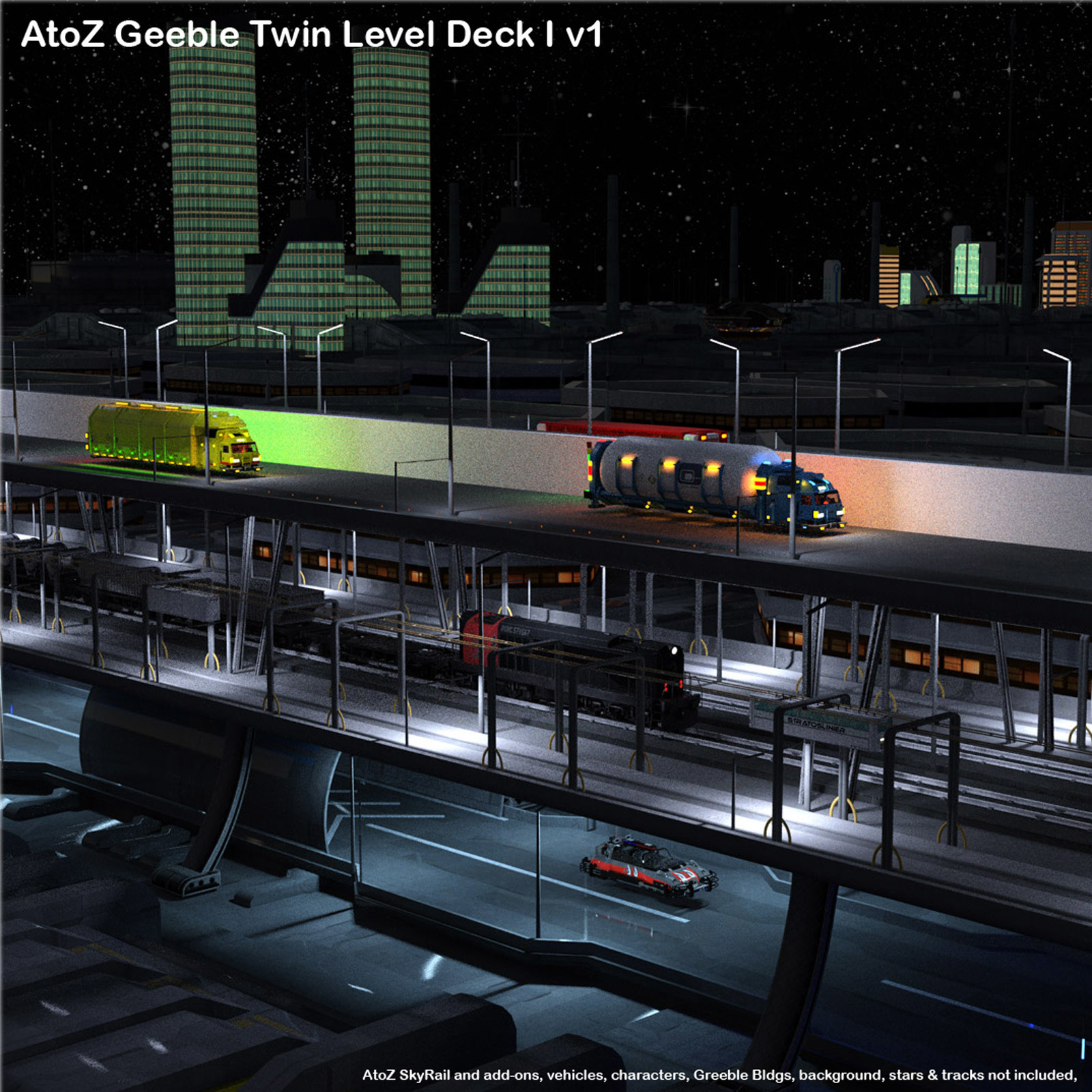 AtoZ Geeble Elevated Twin Deck I v1 by AtoZ