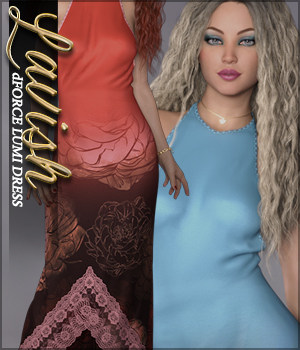 Lavish for dForce Lumi Dress 3D Figure Assets Sveva