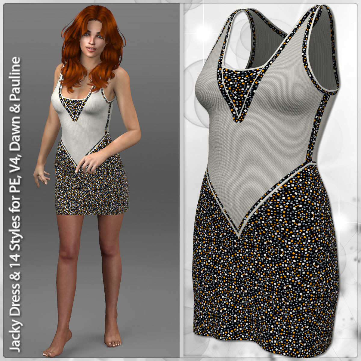 Jacky Dress and 14 Styles for PE, V4, Dawn and Pauline