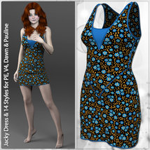 Jacky Dress and 14 Styles for PE, V4, Dawn and Pauline image 1