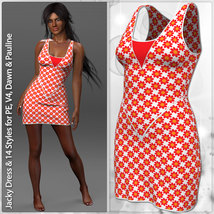 Jacky Dress and 14 Styles for PE, V4, Dawn and Pauline image 2