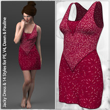 Jacky Dress and 14 Styles for PE, V4, Dawn and Pauline image 3