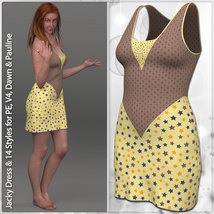 Jacky Dress and 14 Styles for PE, V4, Dawn and Pauline image 4
