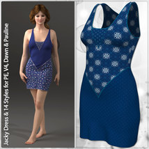 Jacky Dress and 14 Styles for PE, V4, Dawn and Pauline image 5