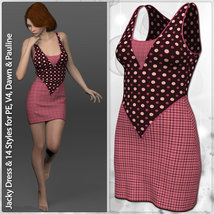 Jacky Dress and 14 Styles for PE, V4, Dawn and Pauline image 6