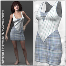 Jacky Dress and 14 Styles for PE, V4, Dawn and Pauline image 7