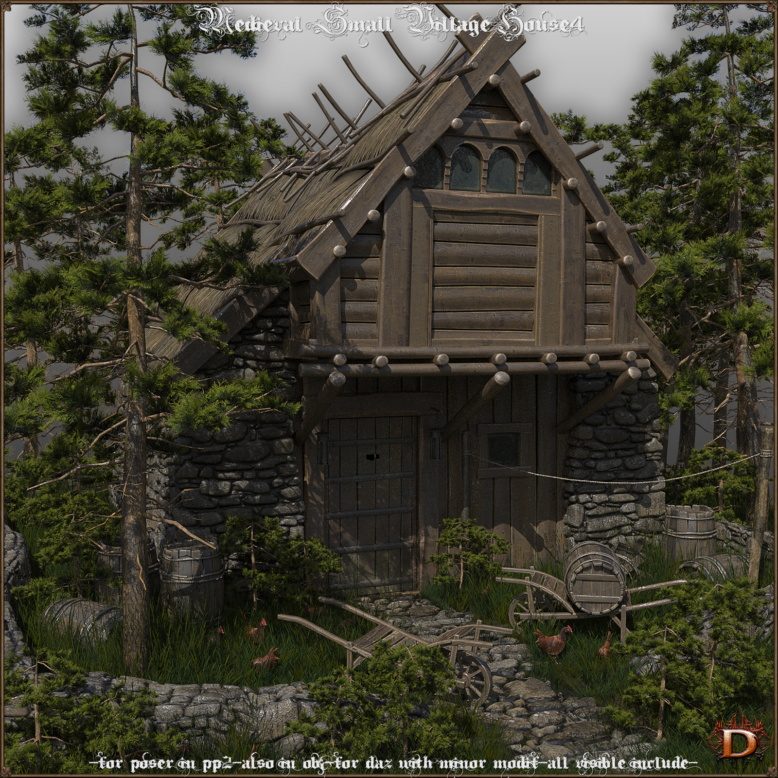 Medieval Small Village House4